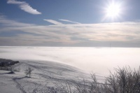 2010 Wasserkuppe Inversion Winter Wolken 001